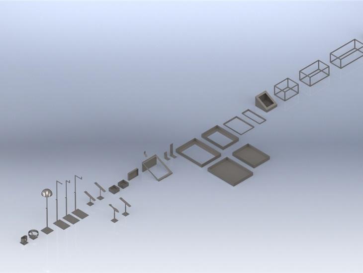 tools espositori progetto in 3D