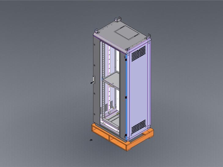 Progetto in 3D rack a pavimento porta vetro